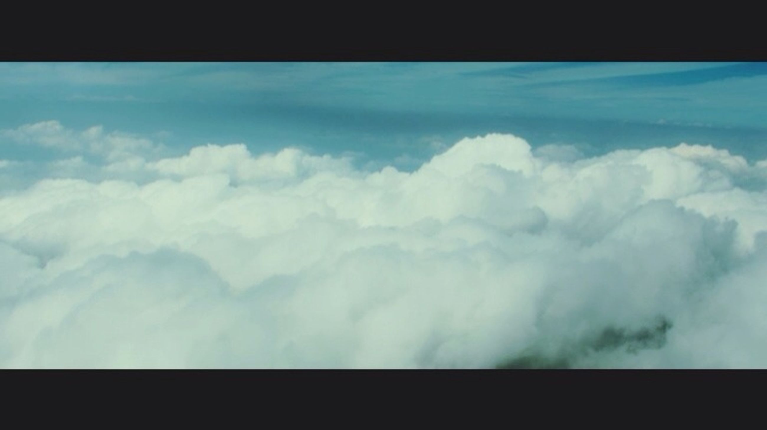 sky, cloud - sky, transfer print, cloud, scenics, beauty in nature, nature, cloudy, tranquil scene, tranquility, auto post production filter, blue, cloudscape, low angle view, idyllic, day, no people, outdoors, weather, window