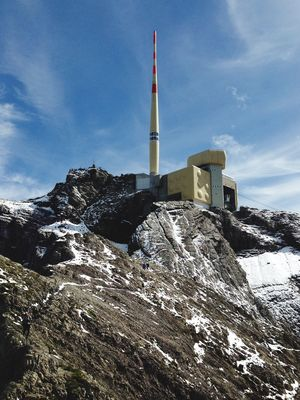 Saentis Säntis Saentis Alpstein Built Structure Architecture Building Exterior Sky Tower Nature Tall - High Building Cloud - Sky Snow Cold Temperature Travel Destinations No People Travel Winter Day Low Angle View Tourism Outdoors Spire