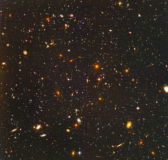 Aerial view of illuminated star field at night