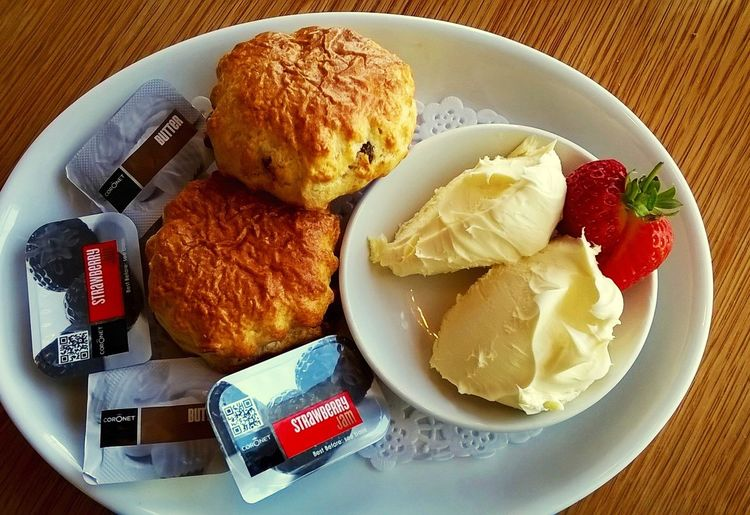 Afternoon Tea. Ordering Room Service Foodphotography Eat! Relaxing Taking Photos Scones Cream Jam Strawberry