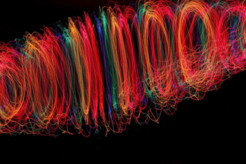 Lightpaintingphotography Multi Colored Red Black Background Vibrant Color No People Motion Neon Close-up Lightpaiting Colores Rickeherbertphotography Baltimore Maryland Christmas Lights