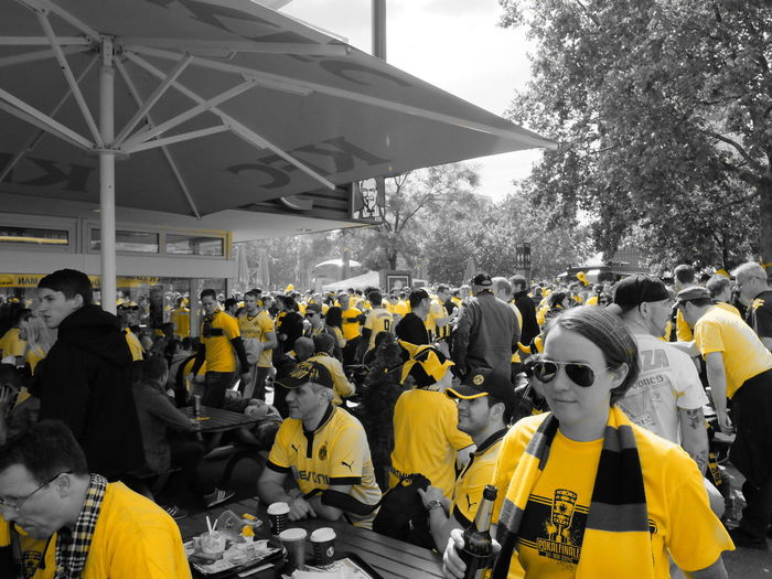 People at stadium