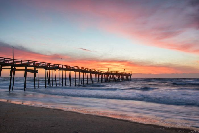 Avon Fishing Pier at sunrise Obx, Fishing Pier, Sunrise, Outer Banks, Hatteras Island