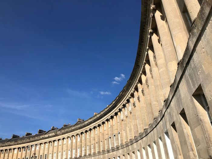 City Of Bath Bath England Architecture EyeEm Selects Built Structure Architecture Building Exterior Sky Low Angle View No People Day Blue Building History Travel Destinations Sunlight Outdoors Travel Wall - Building Feature Clear Sky