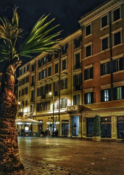 """""""Piazza in Solitude"""" - Piazza Lorenzo in Lucina - Roma Rome Roma Photobydperry Architecture Building Exterior Built Structure Night Illuminated Piazzalorenzoinlucina Piazza Italy"""