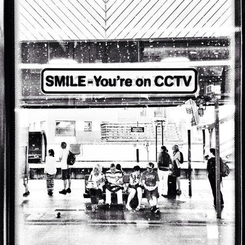 Smile TV. Cctv Train Station People Platform