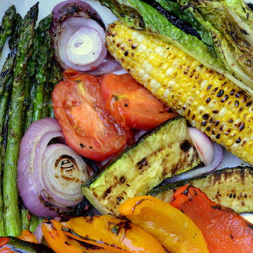 Close-up of grilled vegetables