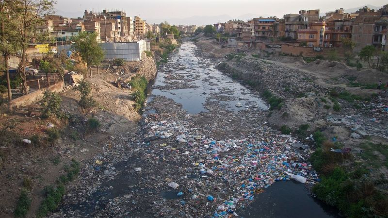 City Life Garbage Kathmandu Kathmandu, Nepal Leicacamera Nepal Polluted River Polluted Water Pollution River Of Waste Rubbish