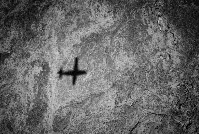 Flight over the lava fields at Lake Turkana, Kenya Airplane Shadow Airplane View Hostile Environment Empty Volcanic Landscape Structure Shadows & Lights Shadow Blackandwhite Monochrome Remote Places Remote Location Lava Lake Turkana Kenya Flying From Above  Africa Up In The Air Up In The Air The Week On EyeEm