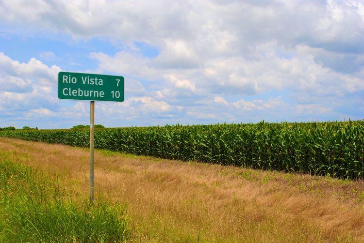 Home 🇨🇱 Highway Sign Corn Field Highway Texas