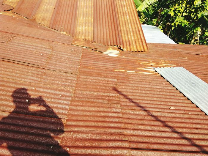 Rusty Rooftops Rooftop View  Rusty Metal Rusty Things rust roof Roof Zinc Roof Of House
