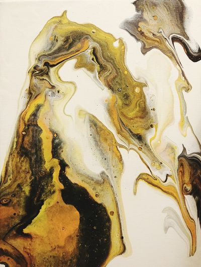 Golden Yellow Flow AdaptiveArts Acrylic Artist Art Etsyseller Etsy DirtyPour Fluidartwork FluidArt Abstractart Acrylicpainting  Painting Wetpaint Golden Yellow Yellow EyeEm Selects Textured  Pattern Close-up Painted Image Ink Adult