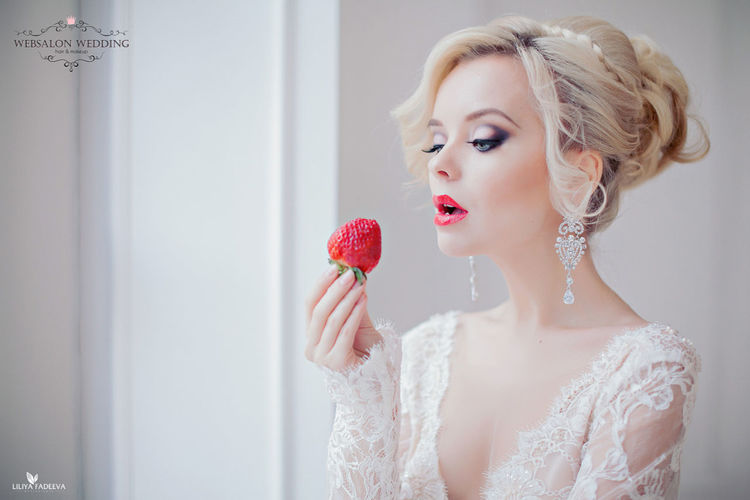 Redlips Pretty♡ Blondie Hairdresser Fashion Hair Novia2015 Long Hair Wedding Photos Wedding2015 Wedding Photography