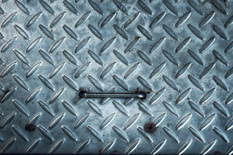 Metal Backgrounds Full Frame Pattern No People Textured  Iron - Metal Close-up Silver Colored Design Steel Shape Indoors  Sheet Metal Repetition High Angle View Alloy Directly Above Abstract Diamond Shaped Textured Effect