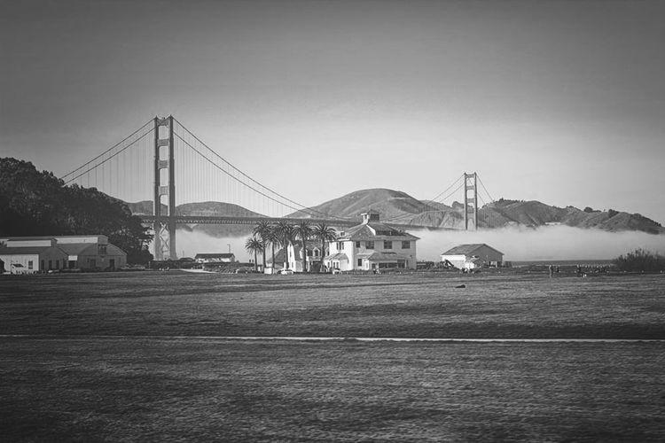 Magic moment Golden Gate Bridge San Francisco Hollidays