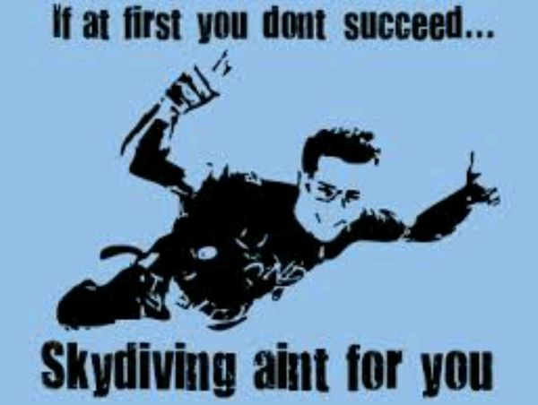 Doing a sponsored Skydive for Cancer Research UK On the 20th August Wish Me Luck I must be Mad