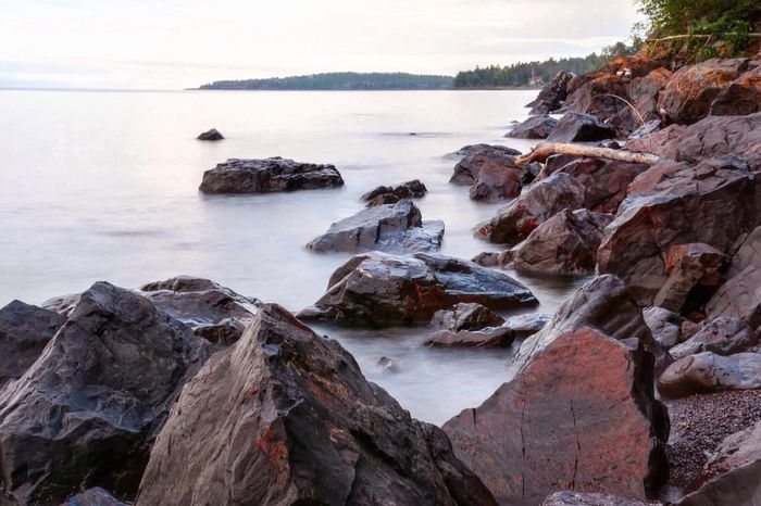 Long exposure morning on Lake Superior Streamzoo Slow Shutter Hdr_Collection Landscape_Collection