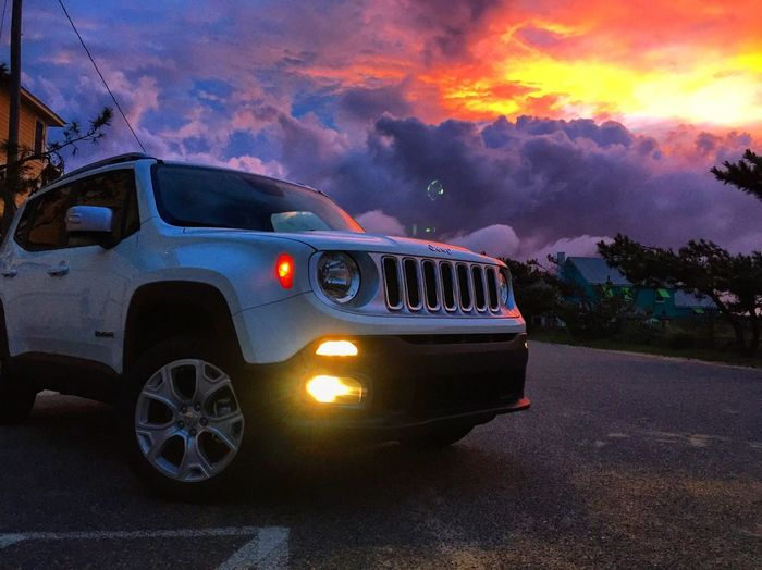 Jeep Life Jeep Jeep Renegade Clouds Clouds And Sky Dramatic Sky Car Sunset Road Transportation Beach Life Beach OBX