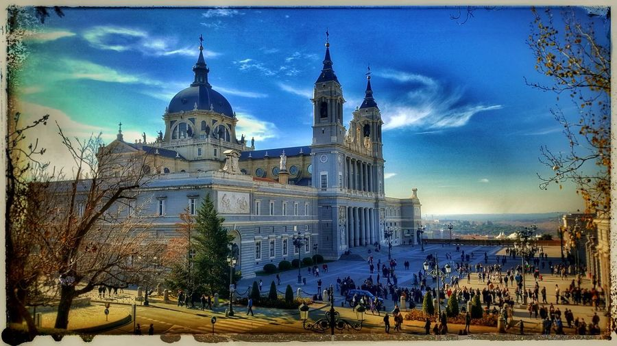 Madrid,spain LaAlmudena Sky Sunlight Plant Autumn Dramatic Sky