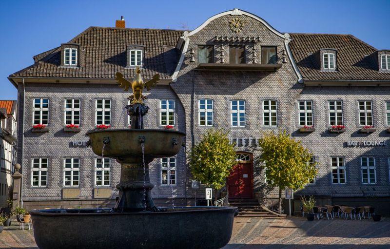 Goslar Adler Adler Golden Building Exterior Built Structure Architecture Building Residential District No People City