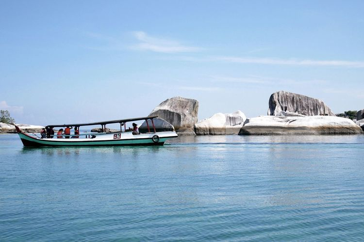 Water Outdoors Day Nature Sky Boat Island Hopping Belitung Island INDONESIA