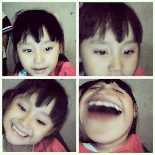 MY gurl in cam. Hahaha ??? HappyTuesday! INDONESIA World YASSS Funny face today selfie cam just fun cute laugh time asiangirl fancy mybaby love ya igers