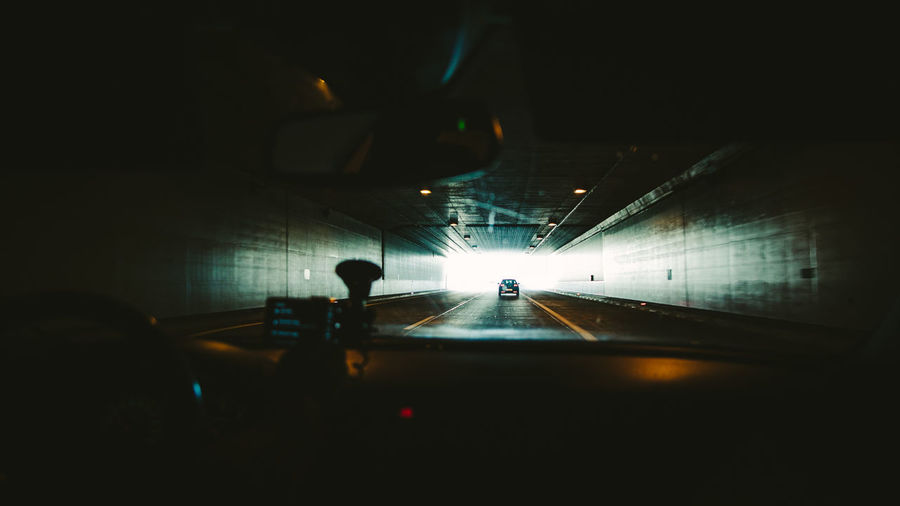 Driving Through Road Tunnel