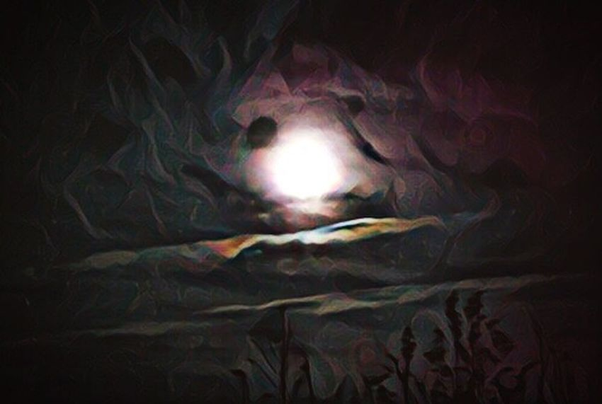 Good night my friends 😊🙋🏻 Photography Illuminated Space Exploration Astronomy Moon Moonlight Silhouette Plant Growth My Edit Dramatic Sky