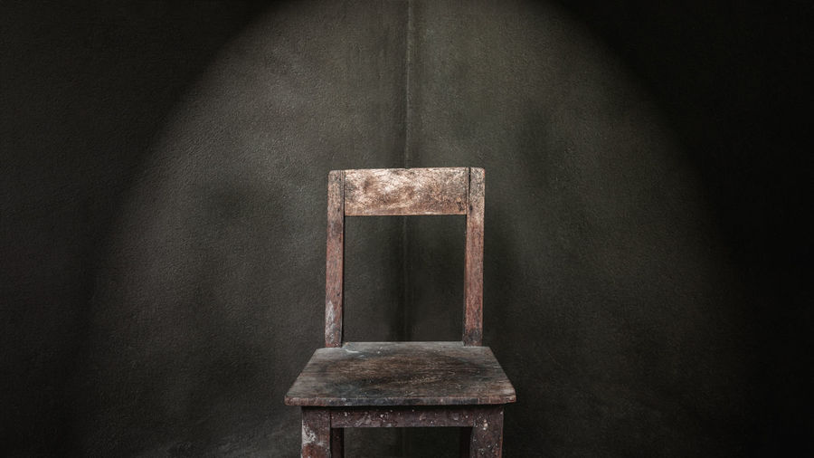 Close-Up Of Old Empty Chair