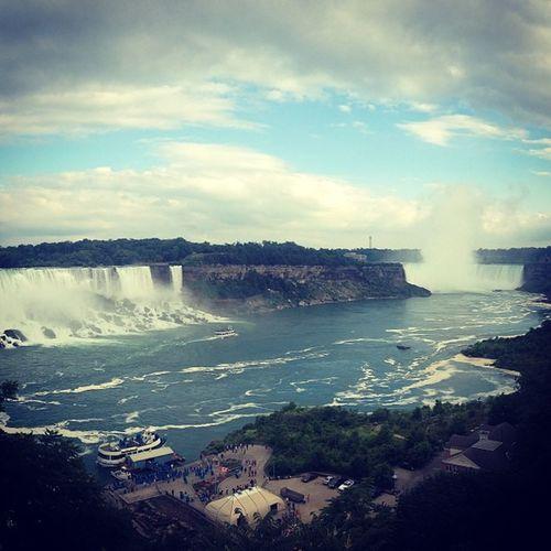 Niagrafalls Falls Ontario Beautiful Water Canada