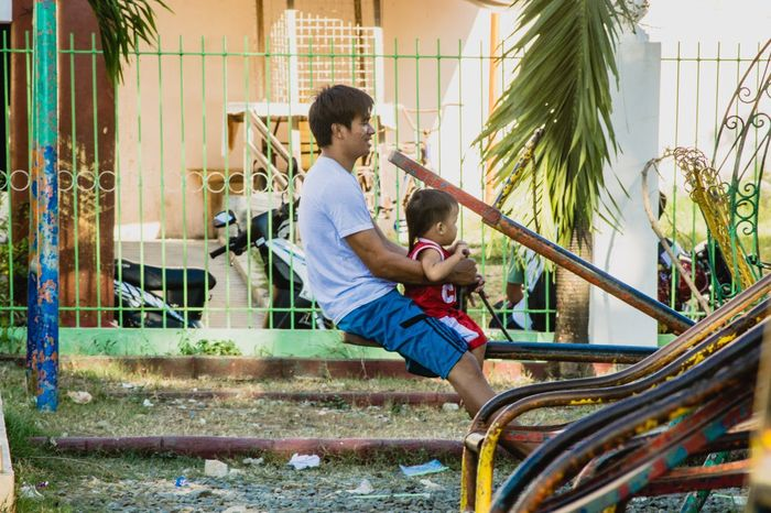 Father and son. Real People POTD EyeEm Best Shots Eyeem Philippines Outdoors People Young Adult