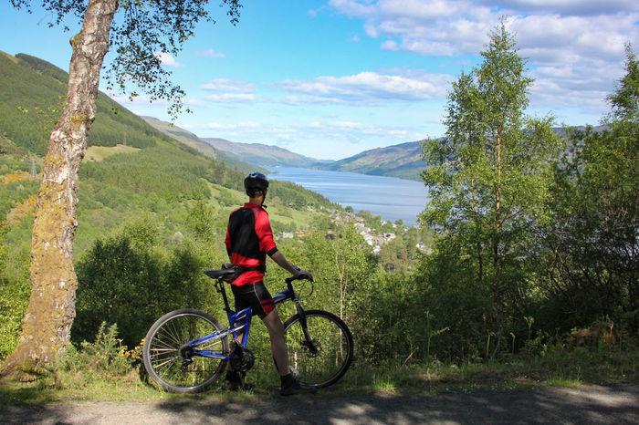 Loch Earn Cyclist