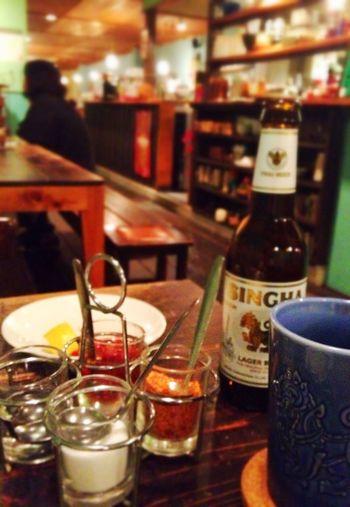 タッパイにシンハービール最高やった*\(^o^)/* Thai Food Beer