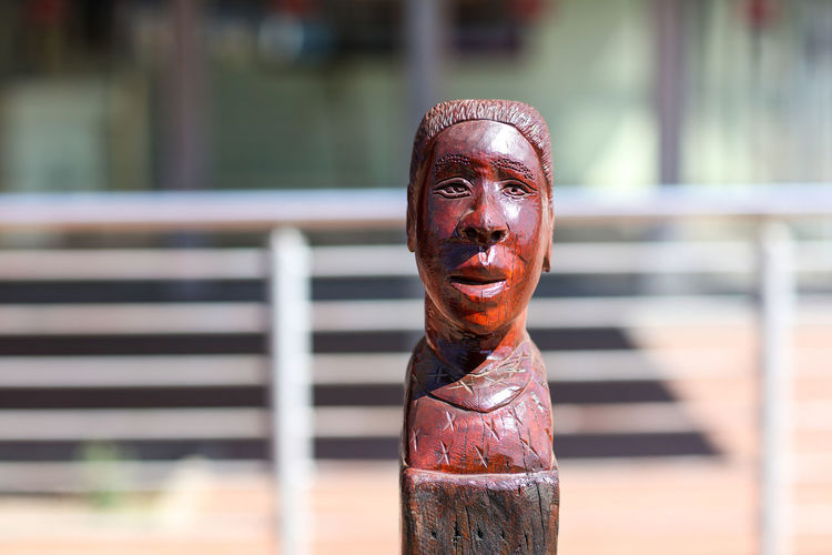 Street art Johannesburg South Africa Art Art And Craft Day Focus On Foreground Front View Human Representation One Person Outdoors Portrait Sculpture Statue Street Art Urban Art Wooden