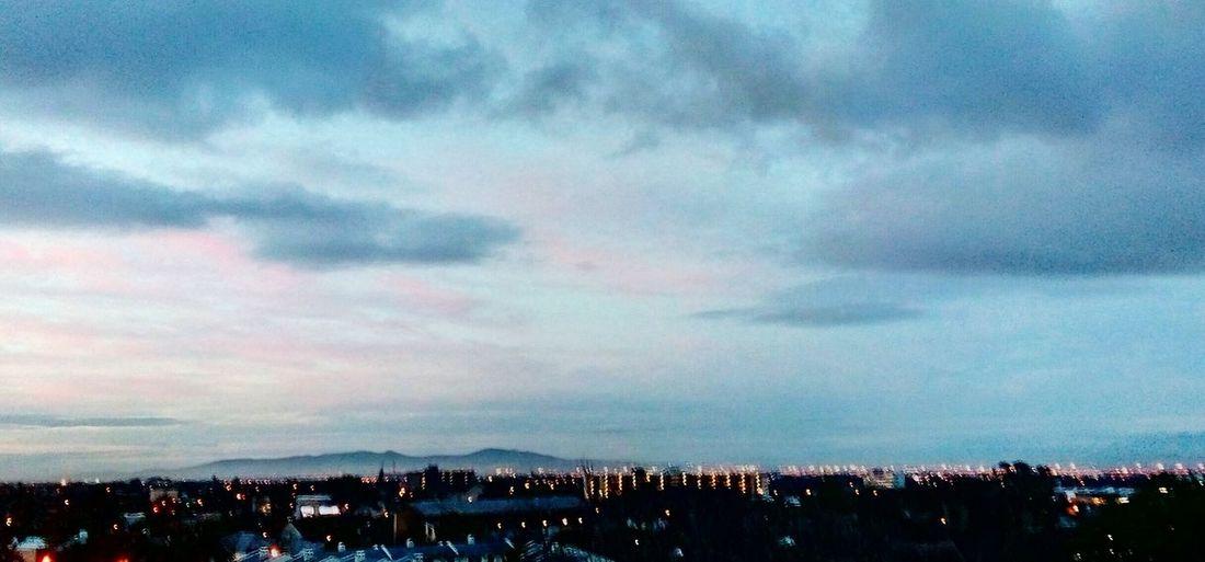 City Cityscape Illuminated Urban Skyline Mountain Dramatic Sky Sky Building Exterior Architecture Cloud - Sky