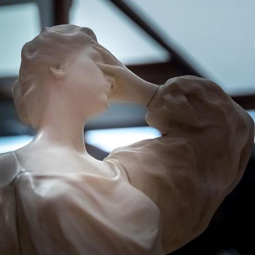 Godefroid Devreese (1861-1941) Horta & Wolfers Ivory Marble, Musée Du Cinquantenaire Brass Désespoir Exhibition Marble