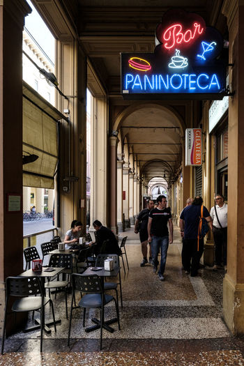 Bar Bologna Cafe City Life Day Group Of People Paninoteca Il Pentagramma People Street Photography