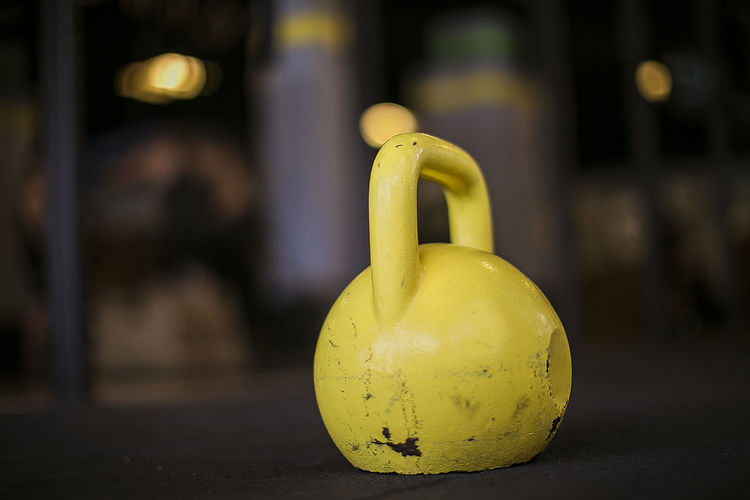 Close-up Crossfit Fitness Focus On Foreground Gym Indoors  Kettlebell  No People