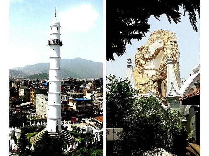 Amazing Architecture BeforeAndAfter  UNESCO World Heritage Site Dharahara Eyeem Photography EarthquakeNepal