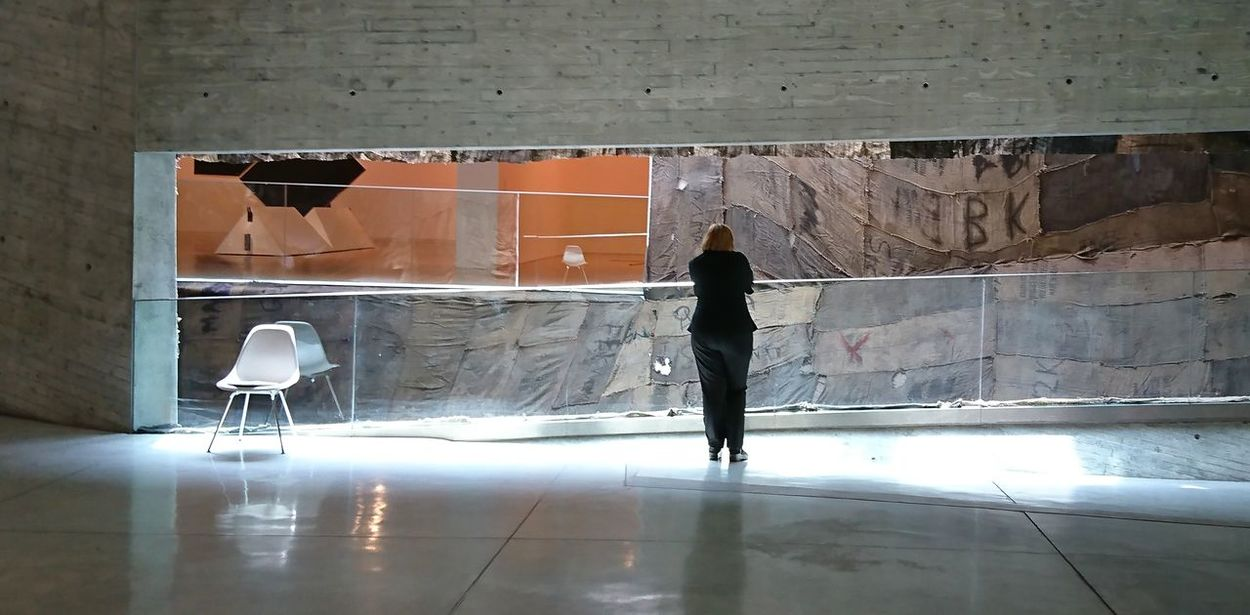 Architecture Indoors  In The Museum It's All About Art Modern Architecture Art Installaton Tel Aviv Museum Of Art Urban Landscape Contemplating The World