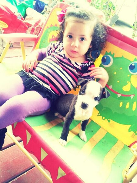 How she loves that lil dog <3