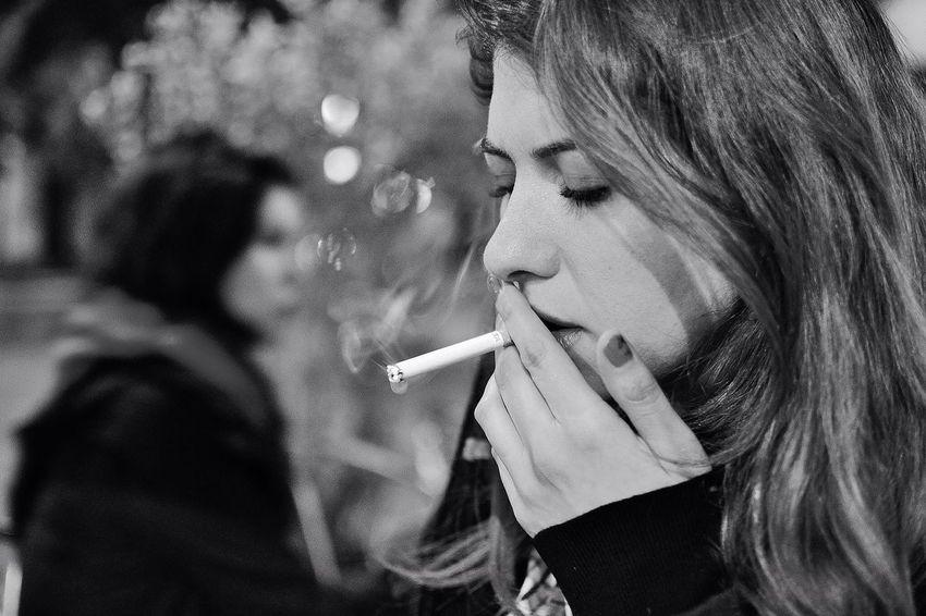 Portrait Blackandwhite Smoking