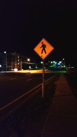Night Road Sign