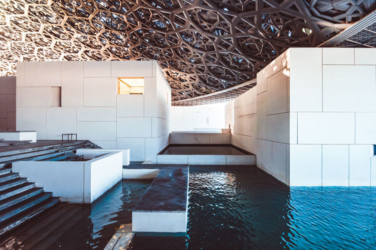 Buildings by swimming pool