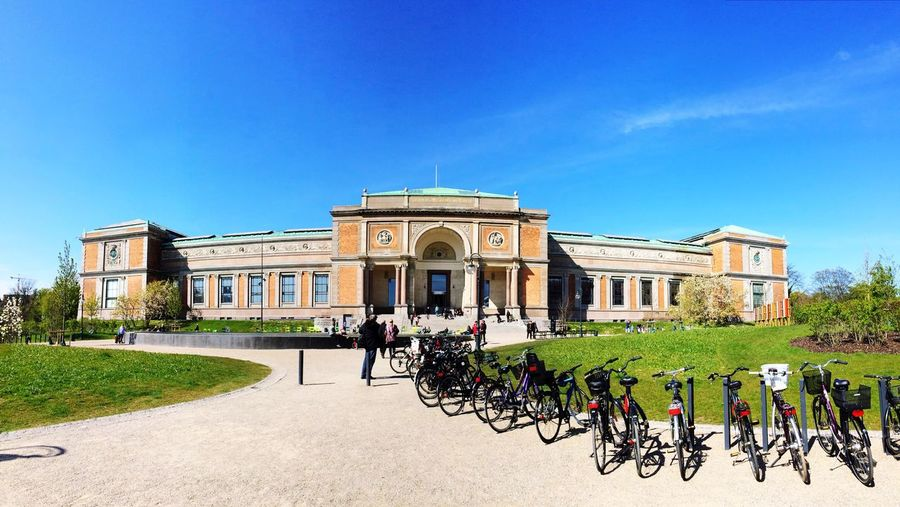 Copenhagen Art Museum Architecture Historical Building Streetphotography Blue Sky Bycicle