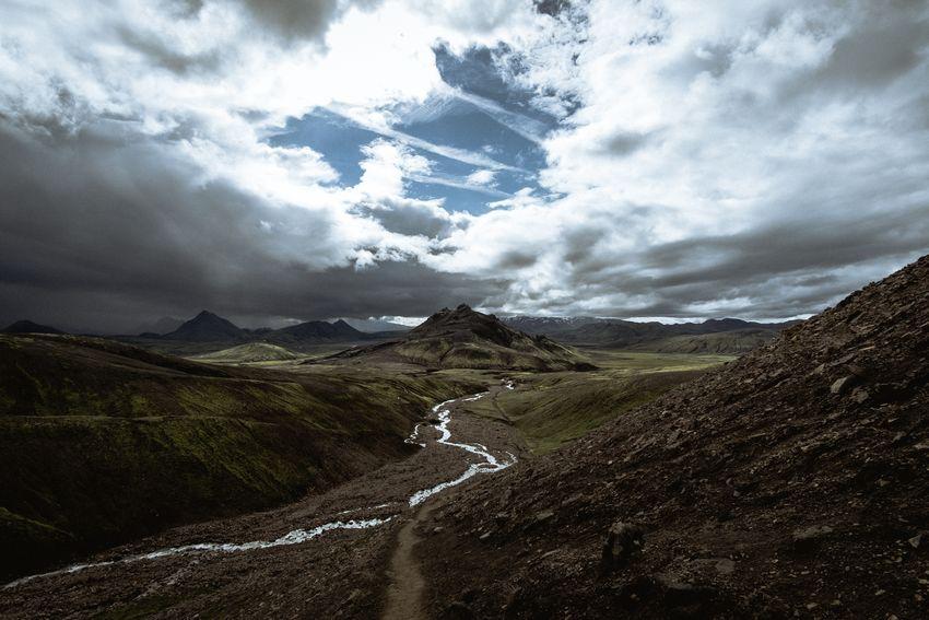 Laugavegur trek - Day 2 Landscape Mountain Travel Iceland Laugavegur