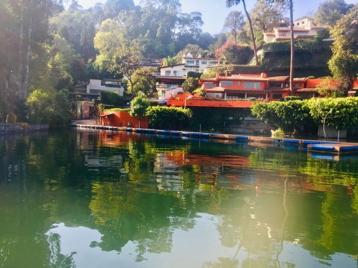 La casa encantada Reflection Water Tree Plant Building Exterior Built Structure EyeEmNewHere Architecture Nature Residential District Lake