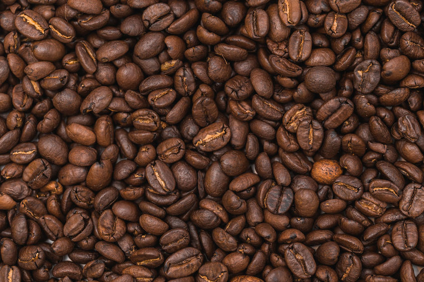 Roasted coffee beans as background Abundance Backgrounds Brown Close-up Coffee - Drink Coffee Bean Day Food And Drink Freshness Full Frame Indoors  Mocha Nature No People Raw Coffee Bean Roasted Roasted Coffee Bean Scented