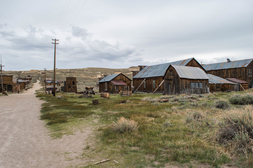 Bodie Bodie Ghost Town Abandoned Architecture Building Exterior Built Structure Cloud - Sky Day Ghost Town Gohst Grass House No People Outdoors Sky