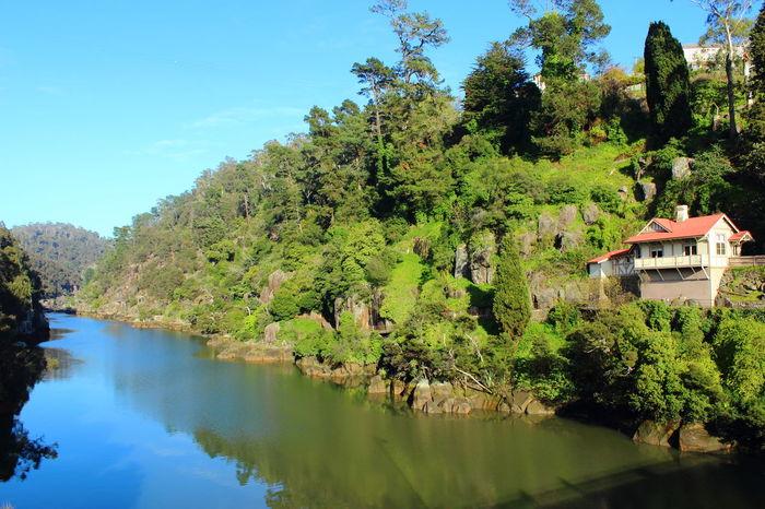 Australia Australian Landscape Beauty In Nature Green Color Nature Sky Tasmania TasmaniaAustralia Tree Water Been There.